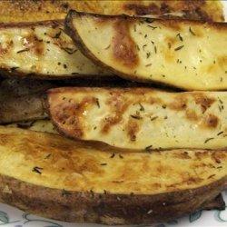 Oven Baked  Golden Potato Wedges recipe