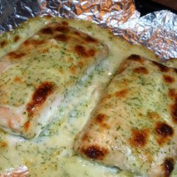 Oven Poached Salmon With Dill Sauce recipe