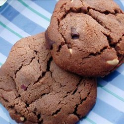 Double Chocolate Chunk Peanut Cookies recipe