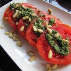 Fresh Pesto and Tomato Salad recipe