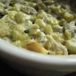 Baked Corn With Chives Sauce recipe