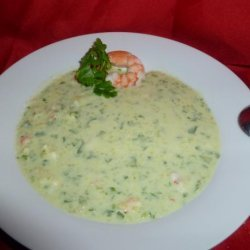 Chilled Cucumber, Avocado and Shrimp Soup recipe