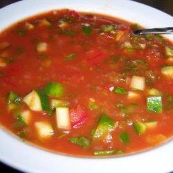 Spicy Herbed Summer Gazpacho recipe