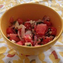 Amazing Watermelon Greek Salad With Feta recipe