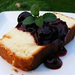 Sour Cream Lemon Pound Cake with Cherry Compote recipe