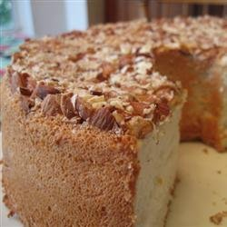 Angel Food Cake with Toasted Almonds recipe