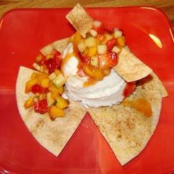 Tortilla Sundae With Minted Mango Salsa recipe