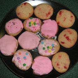 Maraschino Cherry Almond Cookies recipe