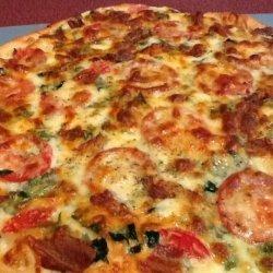 Bacon, Tomato & Spinach Pizza recipe