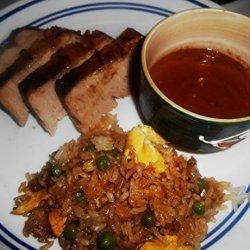 Grilled Asian Pork Tenderloin With Peanut Sauce recipe
