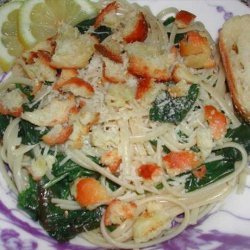 Pasta With Lemon, Spinach, Parmesan and Bread Crumbs recipe