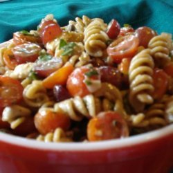 Bow Ties With Tomatoes, Feta, and Balsamic Dressing recipe