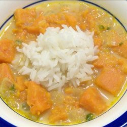 Sweet Potato Soup With Marooned Rice recipe