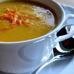 Christmas Clementine, Carrot and Coriander Soup W/ Citrus Twists recipe