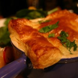 Individual Chicken Pot Pies With Puff Pastry recipe