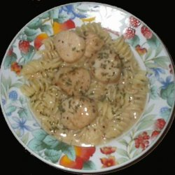 Delicious Penne With Scallops recipe