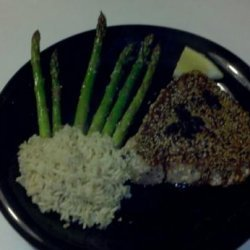 Sesame Crusted Tuna Steaks With Balsamic Sauce recipe