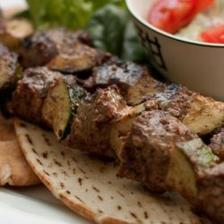 Spicy Lamb Shish Kebabs With Greek Pita Bread recipe