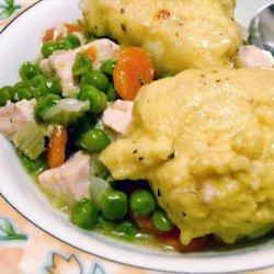Yosemite Chicken Stew  With Cornmeal Dumplings  (Low Fat) recipe