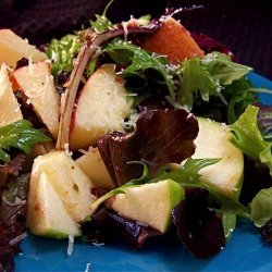 Mixed Apple Salad over Greens recipe
