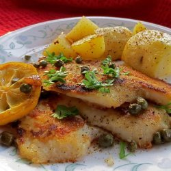 Fish Fillets With Lemon and Caper Sauce recipe
