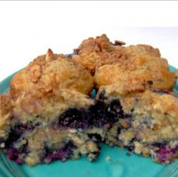 Blueberry  Muffins With Almond Streusel recipe