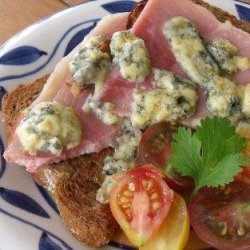 Grilled Ham and Blue Cheese Sandwich - Croque Monsieur recipe