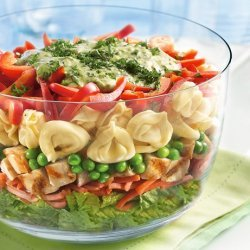 Grilled Chicken and Tortellini Salad recipe