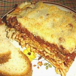 Spaghetti and Mince Casserole recipe