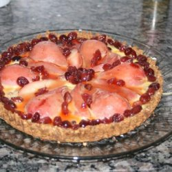 Cranberry Pear Tart With Gingerbread Crust recipe