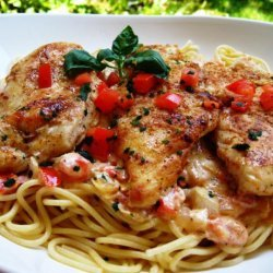 Chicken With Tomato Basil Cream Sauce recipe