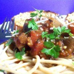 Eggplant Pasta Sauce recipe