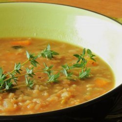 Red Lentil and Barley Soup recipe
