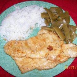 Turkey Scaloppine With Lemon recipe