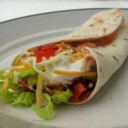 Taco Bell Style Burrito Supreme recipe