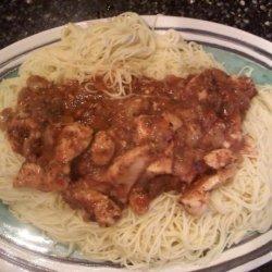 Chicken over Pasta recipe