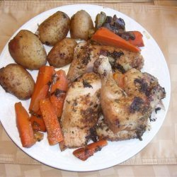 Crock Pot Braised Chicken With Vegetables recipe