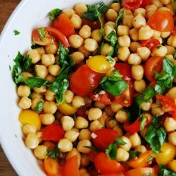 Chickpeas, Tomato and Walnut Salad recipe