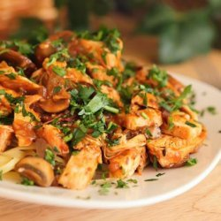 Braised Chicken With Mushrooms and Sun-Dried Tomatoes recipe