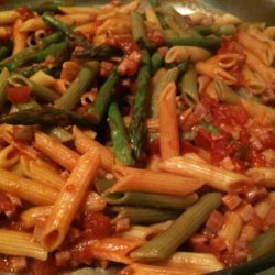 Penne With Asparagus, Ham, and Basil (Weight Watchers) recipe