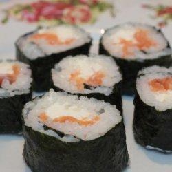 Smoked Salmon Sushi recipe