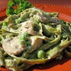 Peas and Mushroom Alfredo recipe