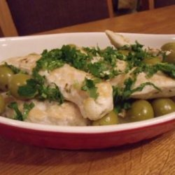 Low Fat Chicken With Lemon and Olives recipe
