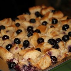 Blueberry Bagel Bread Pudding recipe