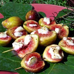 Broiled Figs With Goat Cheese recipe