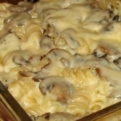 Baked Mushroom and Cheese Penne recipe
