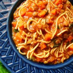 Italian Spaghetti Soup With Garlic recipe