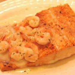 Salmon With Herb-Shrimp Sauce Ww recipe