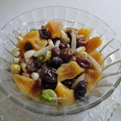 Khoshaf -- Dried Fruit and Nut Compote (Iran -- Middle East) recipe