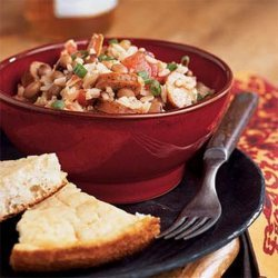 Black-Eyed Peas and Rice With Andouille Sausage recipe